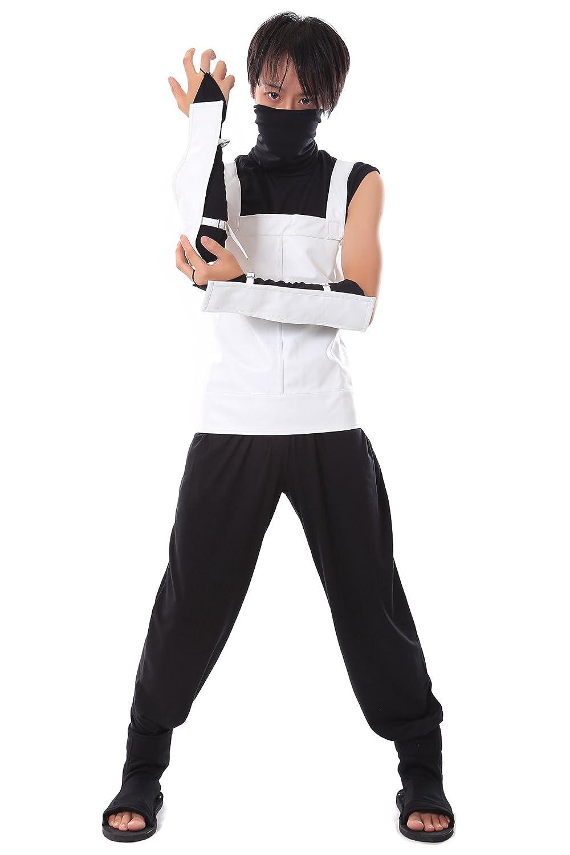 De-Cos Cosplay Costume Hidden Leaf Hatake Kakashi Anbu nero Ops Outfit Set V1