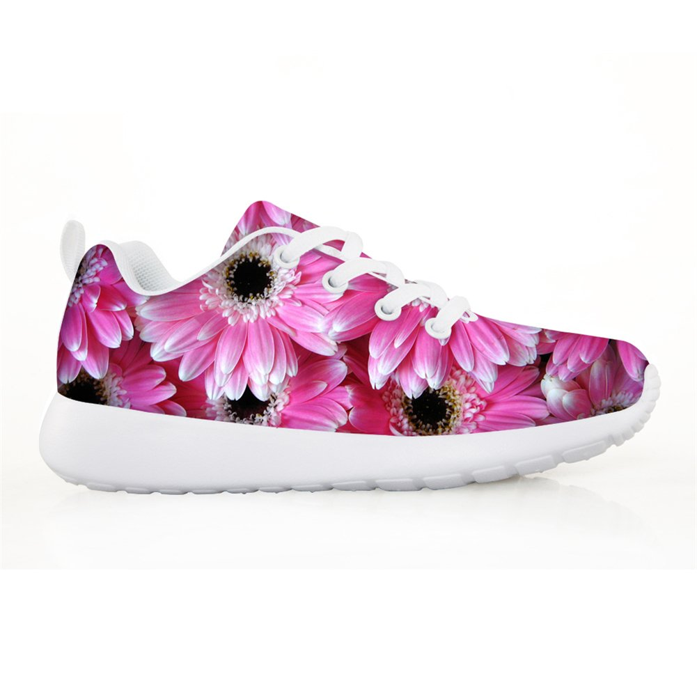 HUGS IDEA Floral Kids Fashion Sneaker Lightweight Running Shoes