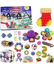 Fidget Toy Adventskalender 2021, Kerst Aftelkalender 24 dagen Figetsss Speelgoed Sets Stress Relief en Angst Goedkope Fidget Speelgoed Doos voor Kerstmis Kids Gift