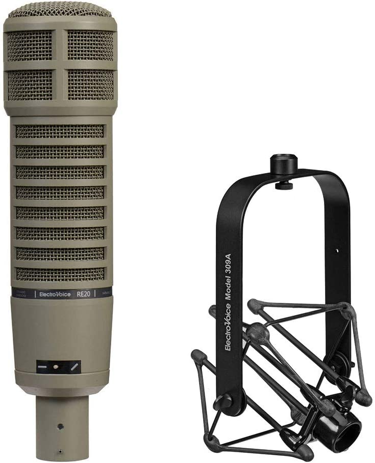 Electro-Voice RE20-BLACK Dynamic Broadcast Announcer Microphone F.01U.388.793