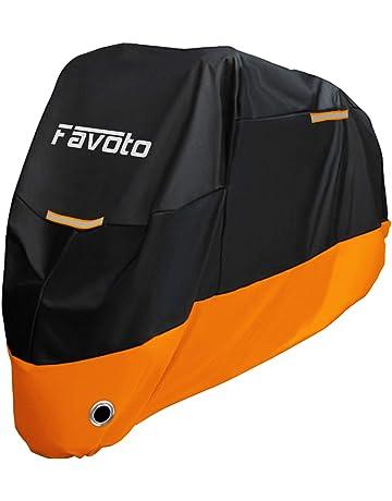 Favoto Funda para Moto 210D Cubierta de Motocicleta Protector Poliéster Resistente al Agua a Prueba de