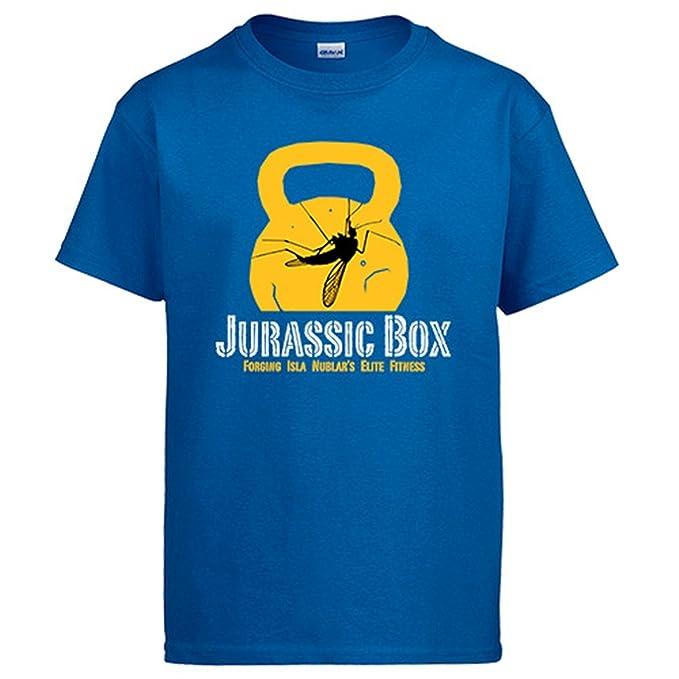 Diver Camisetas Camiseta Jurassic Box Crossfit de Isla Nublar: Amazon.es: Ropa y accesorios