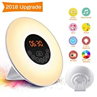 Wake Up Light Alarm Clock SOLMORE Electronic Digital Clock Bedside Lamp UK Plug (FM Radio)