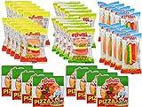 eFrutti Gummi Candy Variety Party Pack: Pizzas, Mini Burgers, Sour Mini Burgers, Hotdogs