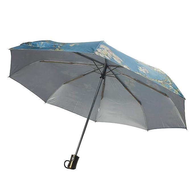 Van Gogh moreinks MyLifeUNIT almendra flores óleo plegable paraguas compacto: Amazon.es: Jardín
