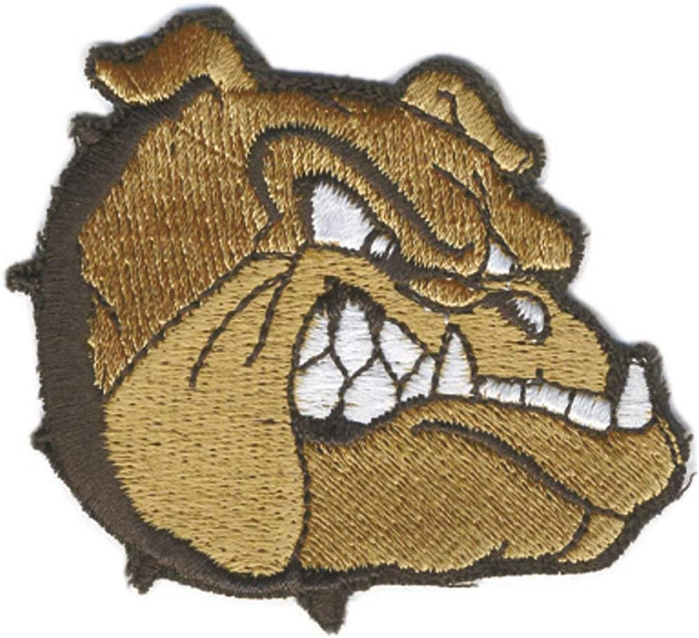 Hund Bulldogge - Stick Emblem Abzeichen Patches Applikation 03088 AUFN/ÄHER ca 6,5cm x 5,5cm Gr