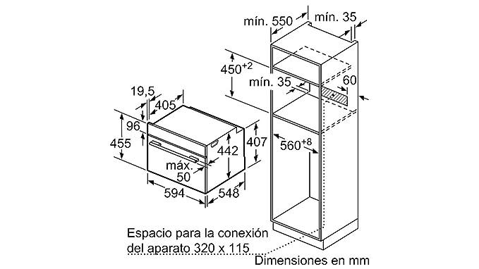 Balay 3CB5351B0 - Horno (Medio, Horno eléctrico, 47 L, 47 L, 0-275 ...