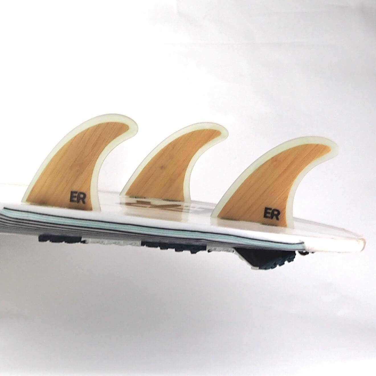 Finnen Flossen f/ür Surfbrett und SUP Gr/ö/ße Medium Eisbach Riders Surfboard FCS Bamboo Fiberglass Fin Thruster Set mit Fin Key