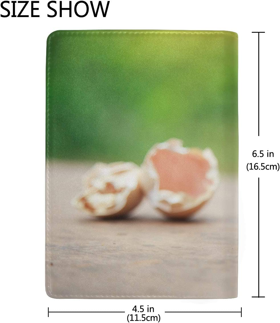 Yellow Newborn Chick On Green Grass Blocking Print Passport Holder Cover Case Travel Luggage Passport Wallet Card Holder Made With Leather For Men Women Kids Family