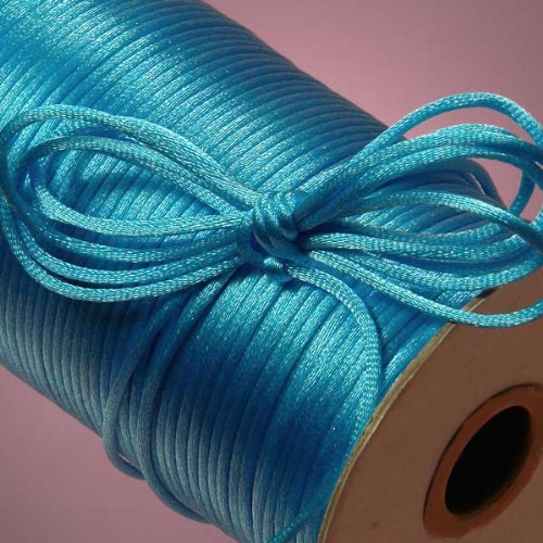 Light Purple Kumihimo Rattail YEQIN 2mm x 100 Yards Quality Rattail Nylon Satin Cord Roll Chinese Knot