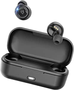 True Wireless Earbuds, Dudios Freedots Bluetooth 5.0 in-Ear Earphones, Ipx7 Waterproof, Deep Bass HiFi Stereo Sound 16H Playtime for iPhone and Android