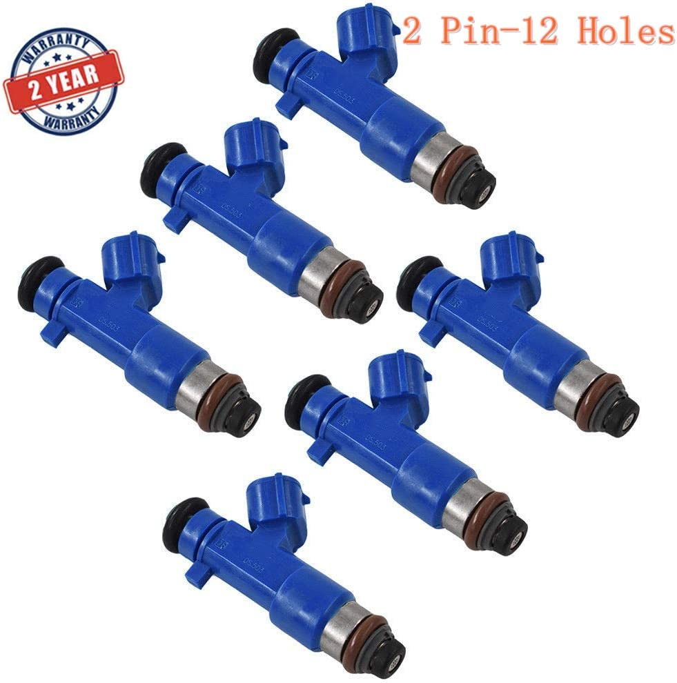6 Pcs 550cc Fuel Injectors 16600-JF00A 14002-AN001 63570 For Infiniti G37 Nissan GTR