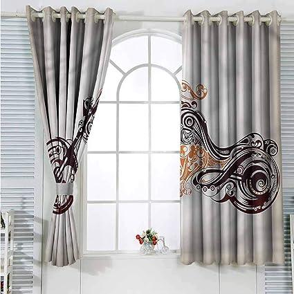 LsWOW Cortinas de Dormitorio, 2 Paneles para Hombre, Bolas de Billar y Billar, con Aislante y Cortinas Opacas oscuras: Amazon.es: Hogar