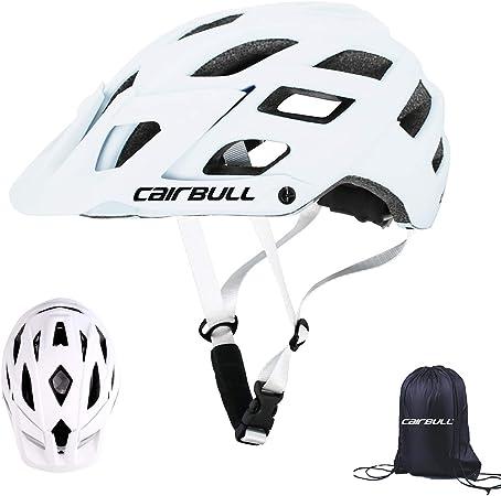 Cairbull Aerodin/ámica Casco de Bicicletta Unisex Adulto Ajustable 55-61 cm con Visera