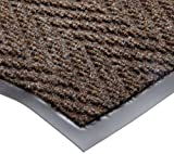 NoTrax T40 Chevron Heavier Weight Carpet Mat, for Wet and Dry Areas, 2' Width x 3' Length x 5/16'' Thickness, Dark Brown