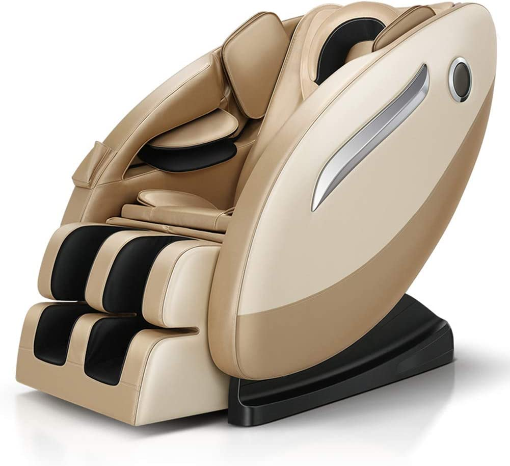 YXRPK Sillón de Masaje 3D Gravedad Cero Ahorro de Espacio Completo reclinable Cuerpo con Yoga Terapia Calefacción Calefacción del Asiento y la Gravedad Cero Posición