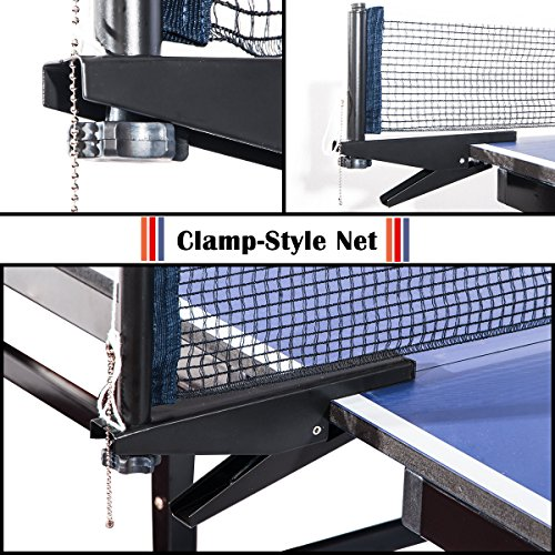2cf86b8dea7 Merax. Everest Series Foldable Table Tennis Table with Net Set and ...
