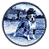 American Bulldog / Lekven Design Dog Plate 19.5 cm /7.61 inches Made in Denmark NEW with certificate of origin PLATE #7382