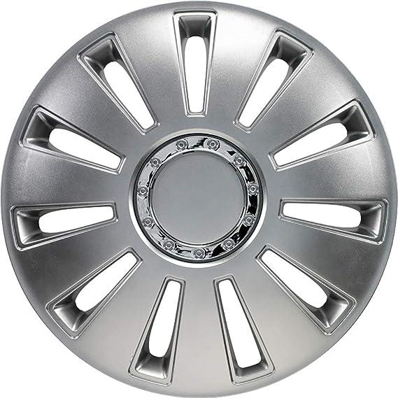 Jeu denjoliveurs Silverstone Pro 17-inch gun-metal anneau chrom/é