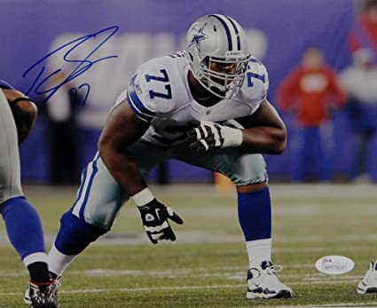 69940a1f8 Image Unavailable. Image not available for. Color: Tyron Smith Autographed Dallas  Cowboys ...