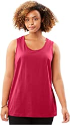 7f7aeb2f5ac3e Woman Within Women s Plus Size Perfect Tank Top