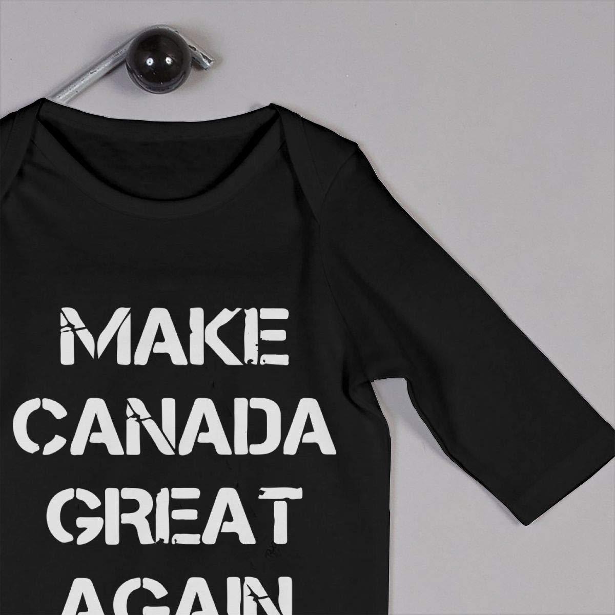 YUE--3BODY Make Canada Great Again Baby Girl Long Sleeve Newborn Baby Bodysuit