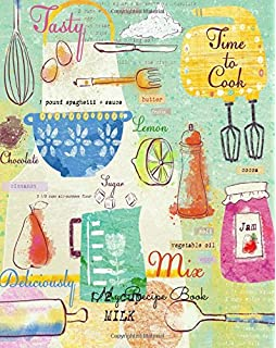 My Recipe Book Journal Notebook Keeper Organizer To Write In Storage