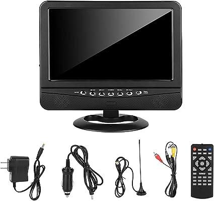 TV analógica para automóvil, reproductor portátil de televisión móvil de EE. UU. De 100-240 V de 9,5 pulgadas DVD móvil para automóvil: Amazon.es: Coche y moto