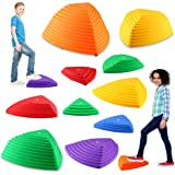 IROO Balance Stepping Stones Set for Kids Play Indoor and Outdoor, Non-Slip Colorful Stones Toys for Coordination and…