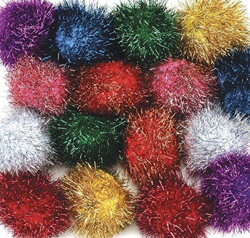"Creativity Street Glitter Poms 2"" X 16-Piece Assorted"