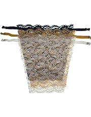 Motanar 3 PCS Lady Lace Clip-on Mock Camisole Bra Insert Overlay Modesty Panel One Size