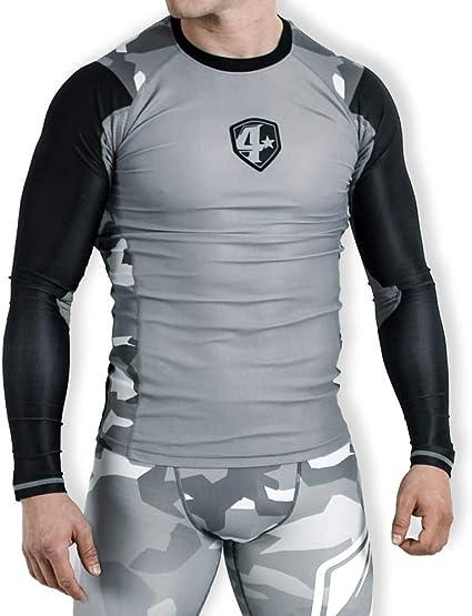 4More® (K3, Herren Sportshirt, Kampfsport Langarmshirt