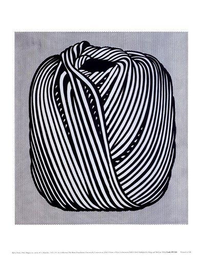 Ball of Twine, 1963 Art Print Art Poster Print by Roy Lichtenstein, 11x14
