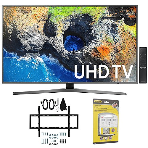 "Samsung UN40MU7000 40"" UHD 4K HDR LED Smart HDTV, Black  w/"
