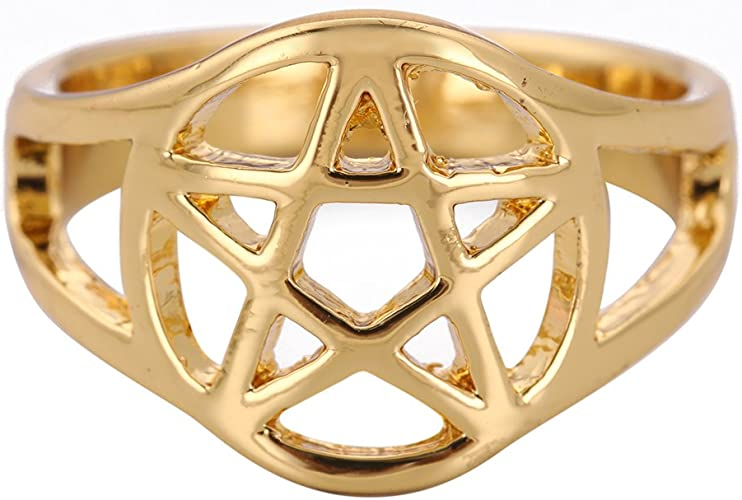 Skyrim Pagan Pentacle Pentagram Talisman For Protection And Healing Ring For Men And Women Amazon Com