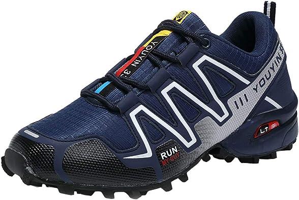 Zapatillas de Montaña Impermeable diseñados para Senderismo Trekking montaña Deportes al Aire Libre A Prueba de Golpes, duraderos, Transpirables y Antideslizante: Amazon.es: Zapatos y complementos