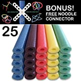 Oodles of Noodles 25 Pack of 52 Inch Foam Swimming Pool Floatie Assorted Colors