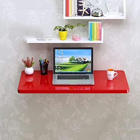 Pequeño apartamento Piano Paint Red plegable Mesa de computadora ...