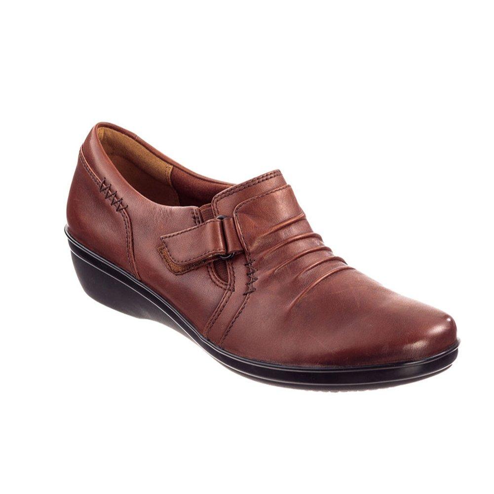 Clarks Damenschuhe Everlay Coda Slip-On Loafer (6 B(M) US, Rusty) -