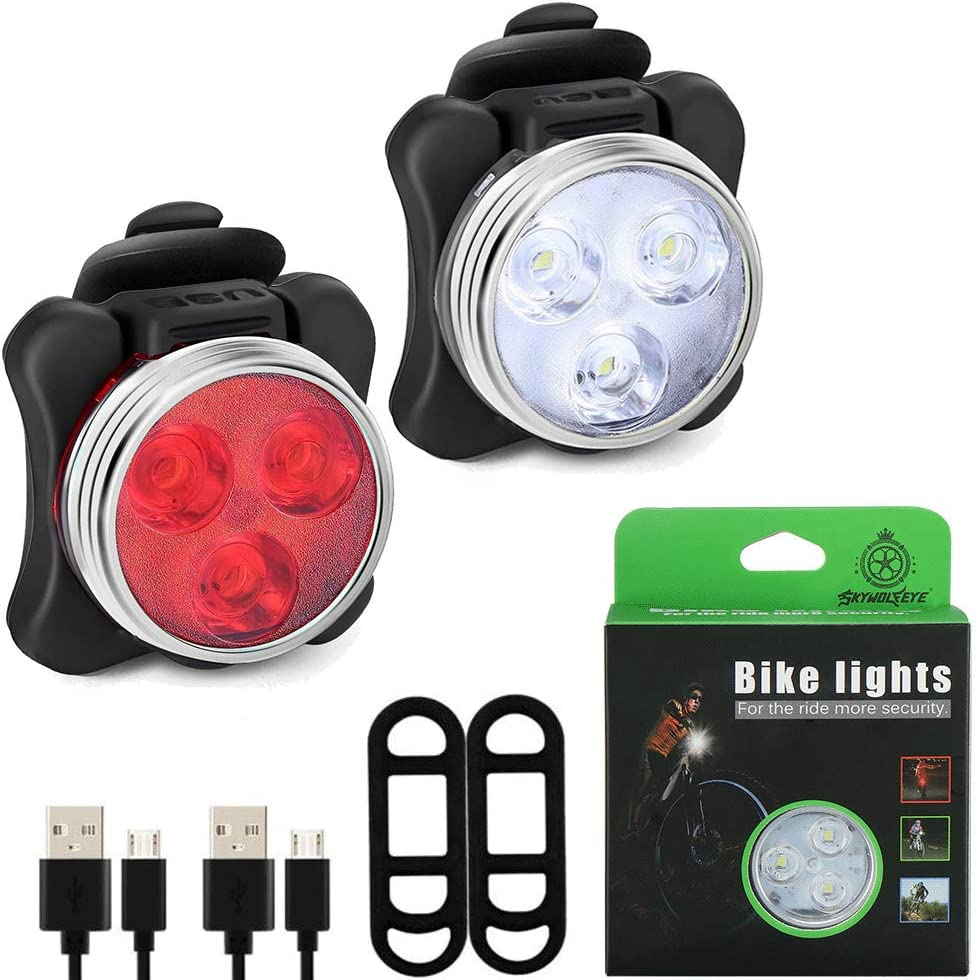 USB Rechargeable LED Bicycle Front Head Light Water-Resistant