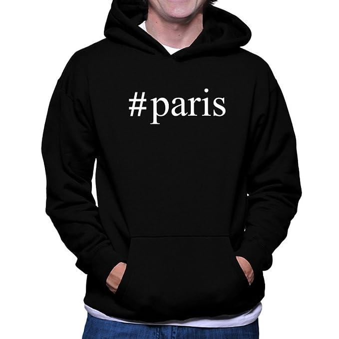 Teeburon Paris Hashtag Sudadera con capucha: Amazon.es: Ropa y accesorios