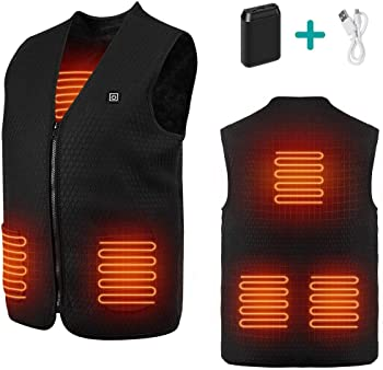 Rockpals Unisex Heated Electric USB Charging Vest