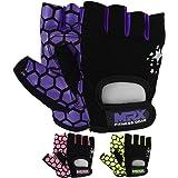 MRX Weight Lifting Training Gloves Crossfit Women Fitness Workout Purple/Black