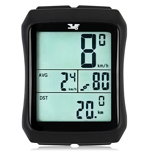 Bike computer,with Cadence Sensor Wireless Waterproof Bicycle Speedometer Automatic Wake-up Backlight LCD Display for Pedal Cadence Speed Training