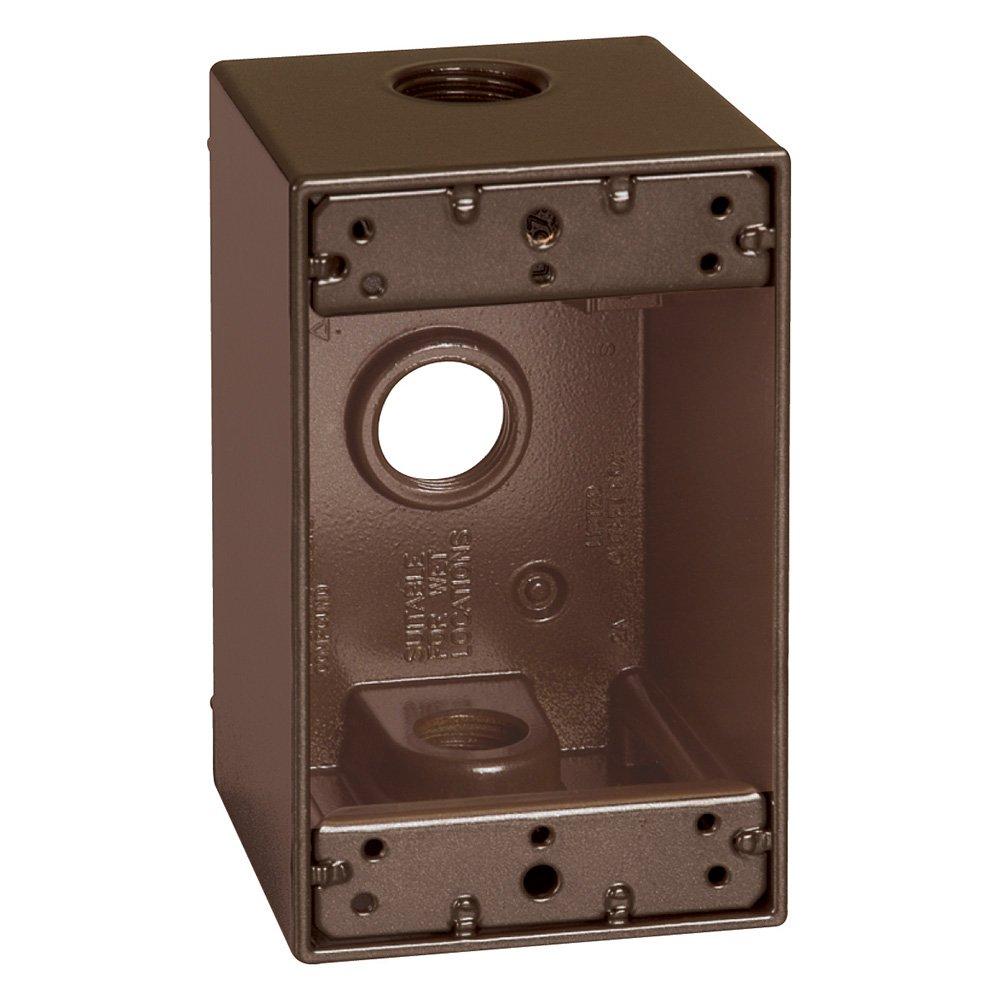 Sigma Electric 14255BR 1/2-Inch 3 Hole 1-Gang Deep Box, Bronze