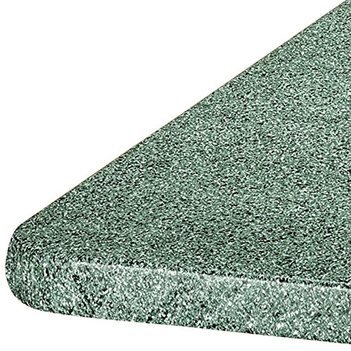 (MS HOME Anti-Stain Elasticized Granite Theme Square and Oblong Table Cover - Easy-to-clean, Vinyl, No-Wrinkles w/soft fleece (36