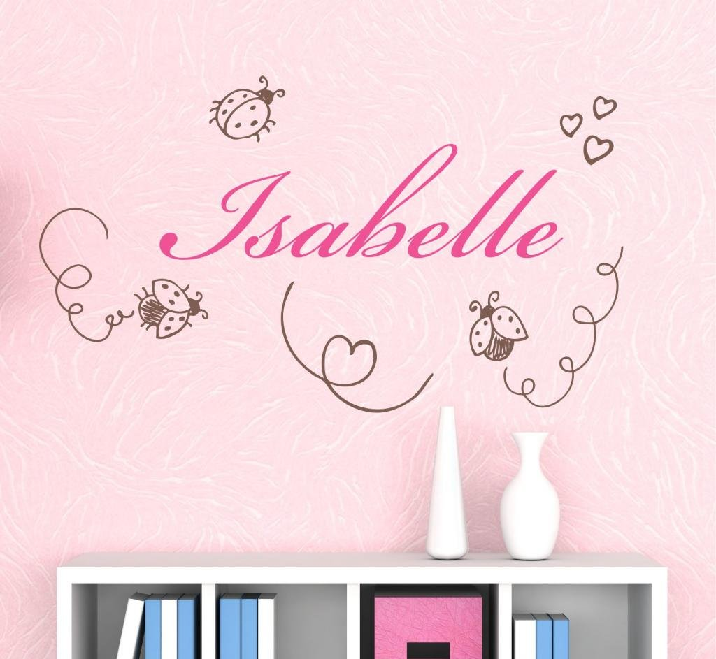 Nursery Ladybugs Custom Name Wall Decal