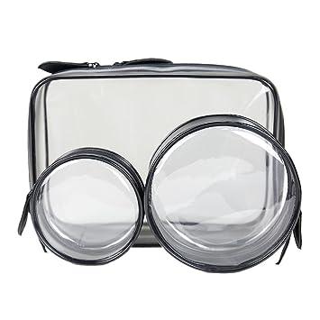 5c8e8d52bc9f Amazon.com : Jocestyle 3pcs Plastic Travel Bag Transparent PVC ...