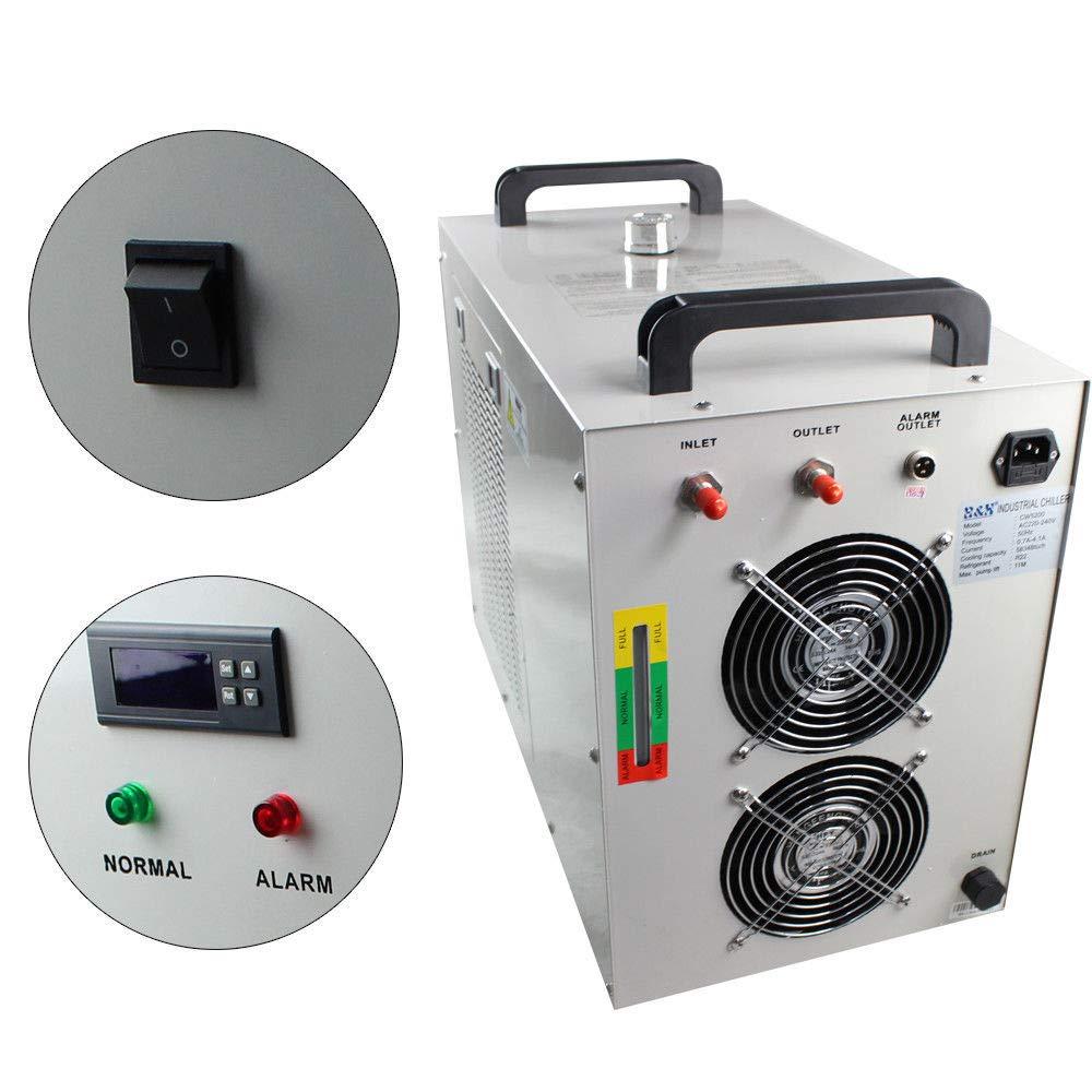 OUKANING CW-5200 - Enfriador de Agua Industrial (8 L, Tipo de termolisis, 600 W, para Grabados CNC): Amazon.es: Hogar
