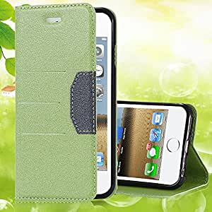 5 5s Fresh Mango Skin Flip Leather Case for iphone 5 5S PU Leather Phone Cover Bags Stand ID Card Holder Luxury Elegant YXF04479 --- Color:Green